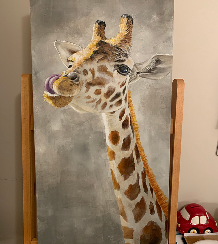 GiGi the Giraffe Painting