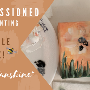 """Hello Sunshine"" Process Painting - Commissioned Painting!"