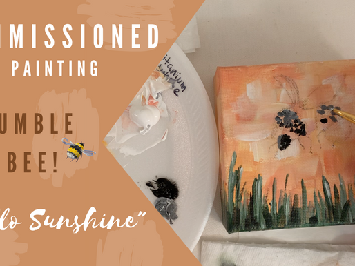 """""""Hello Sunshine"""" Process Painting - Commissioned Painting!"""
