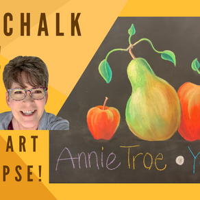 Chalk Your WALL! #32 -Apples and Pears!