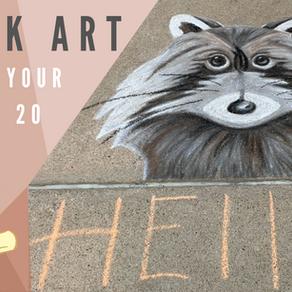 Chalk Your Walk! #20 - Raccoon!