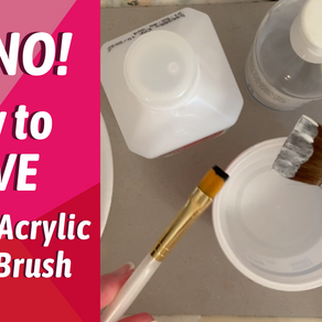 ART TIPS! Getting DRIED Acrylic PAINT Out of Brushes!