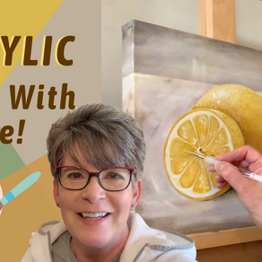 Lemon Acrylic Painting! Painting Process!