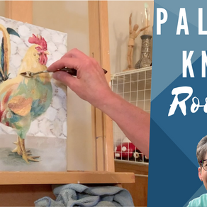 Palette Knife Painting! - Rooster!