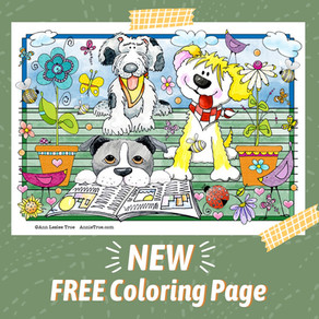 NEW Dog Coloring Page
