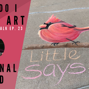 Chalk Your Walk! #23 - Little Red Cardinal!