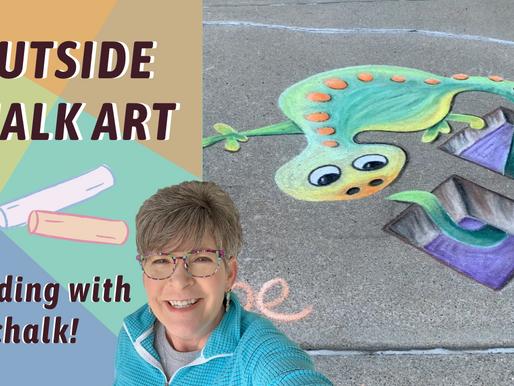 3D CHALK ART! LARGE Scale Salamander! By: Annie Troe ep.49