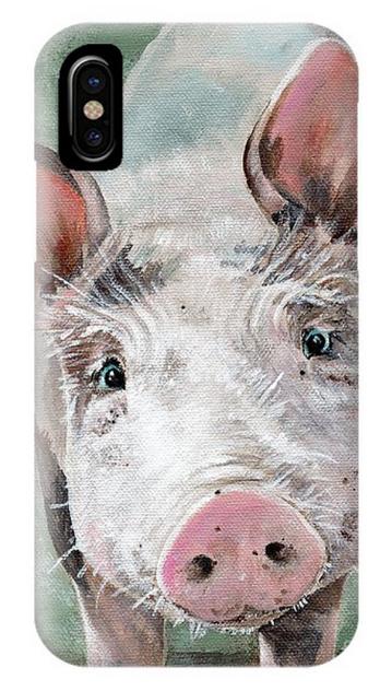 Olive Pig Art phone case