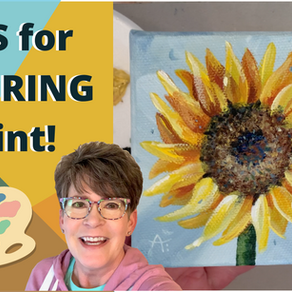 Sunflower Painting Process! TIPS FOR PAINTING PETALS!