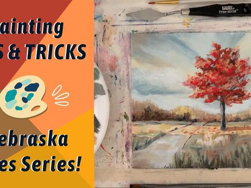 FALL LANDSCAPE! Under Painting! Nebraska Skies Series By: Annie Troe