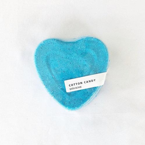 Cotton Candy Heart Bath Bomb