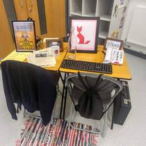 Classroom Escape Room set up.