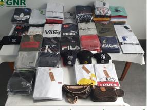 GNR apreende no Caniço material contrafeito no valor de 10 mil euros