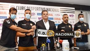 """Novo treinador do Nacional vem para atingir """"objetivo comum"""": a subida"""