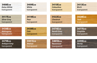 Ecoline Groundcoat Colour Chart