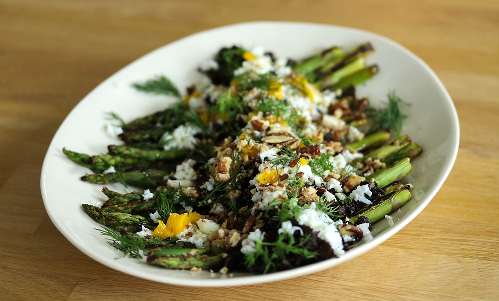 asparagus with cremona mushrooms