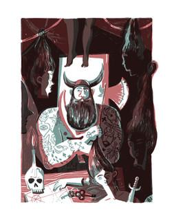 Blue Beard illustration Flavia