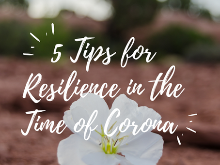 5 Tips for Resilience in the Time of Corona