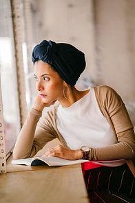 Canva - Photo of Woman Wearing Blue Head