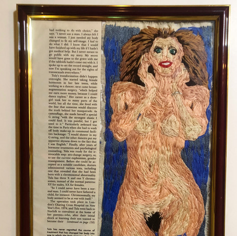 "Right panel of  ""A beautiful woman (Tula,1991)"""