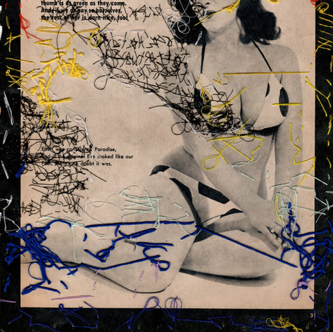 """Back of left panel from the diptych: """"Keep it gay, keep it bright, keep it live, keep it light. (Cooper Donuts Riot 1959)"""""""