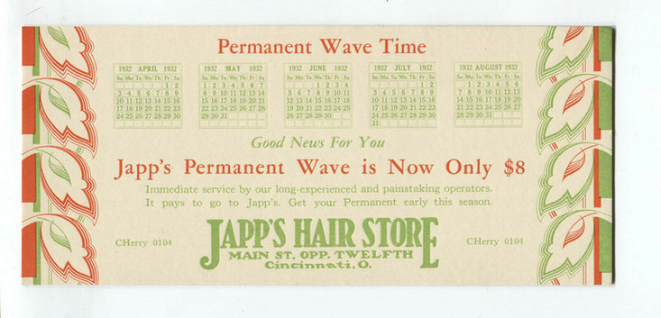 Japp's Permanent Wave Ad