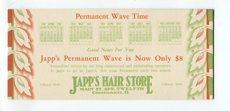 Japp's Permanent Wave Ad
