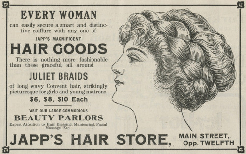 Japp's Hair Goods Ad
