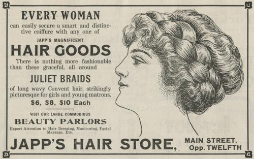 Japp's Hair Goods Ad
