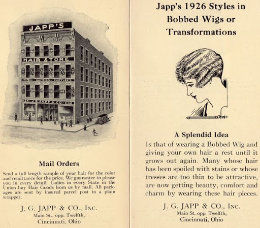 Japp's 1926 Styles in Bobbed Wigs or Transformations