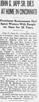 John G. Japp Obituary