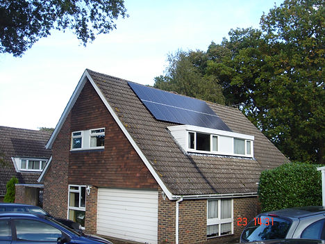 A smaller PV PV array on a detached house