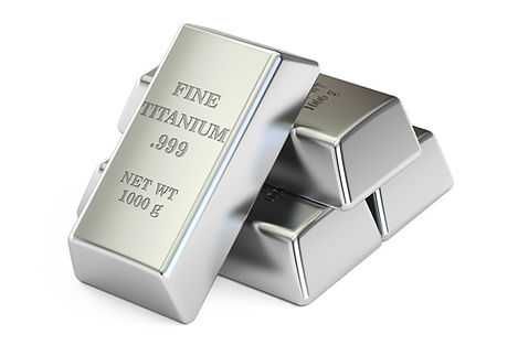 Ingots of pure Titanium
