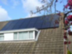 A 16 panel domestic PV installation