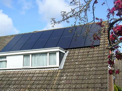 A 16 panel domestic PV installation