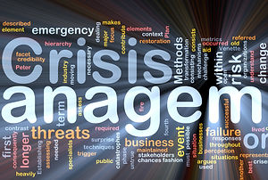 Crisis management wordmap