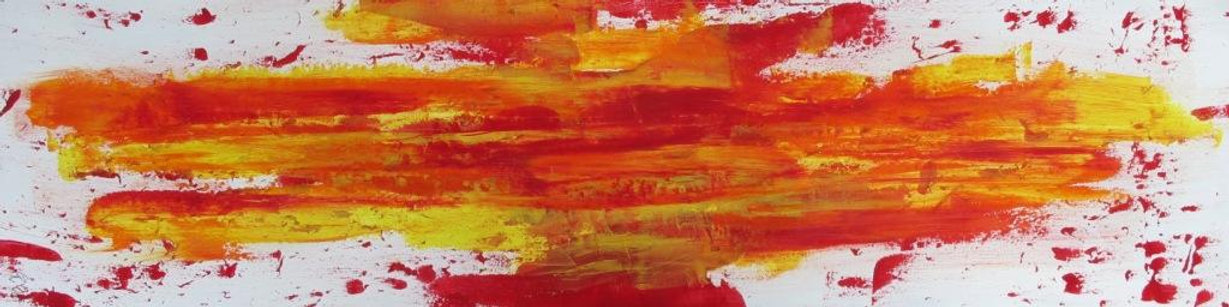 Red abstract by Guy
