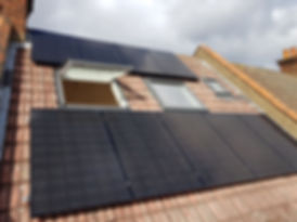 Solar pnels on a terraced house