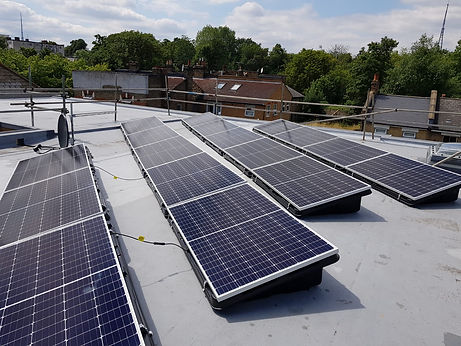 PV installation on London flats