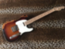 Aged Fender Telecaster guitar