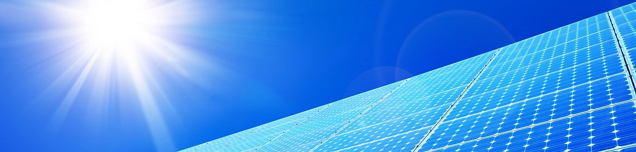 Solar panels against blue sky: on the Hot Water Storage page