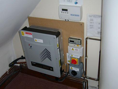 Solar IBoost control panel