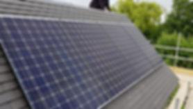 Solar panels on a Chessington house