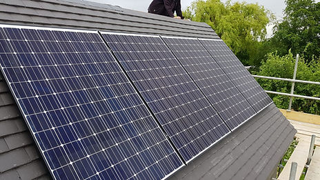 Solar panels on a Chessington house