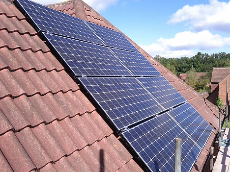Solar panels on a Guildford terraced house