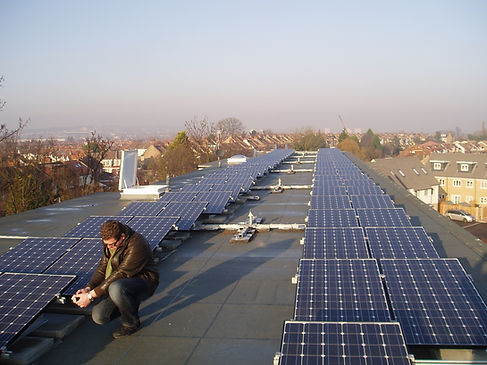 Large commercial roof array