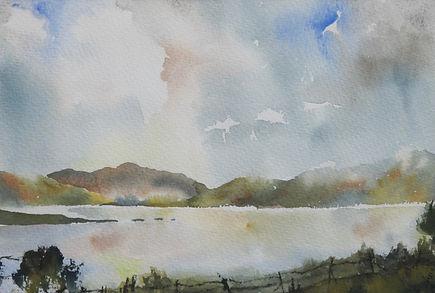 Loch Beinn a Mheadoin; watercolour