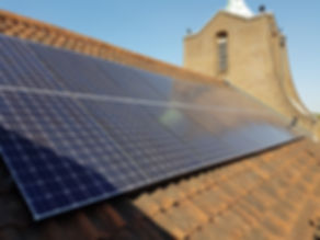 PV installation on  St Georges Church