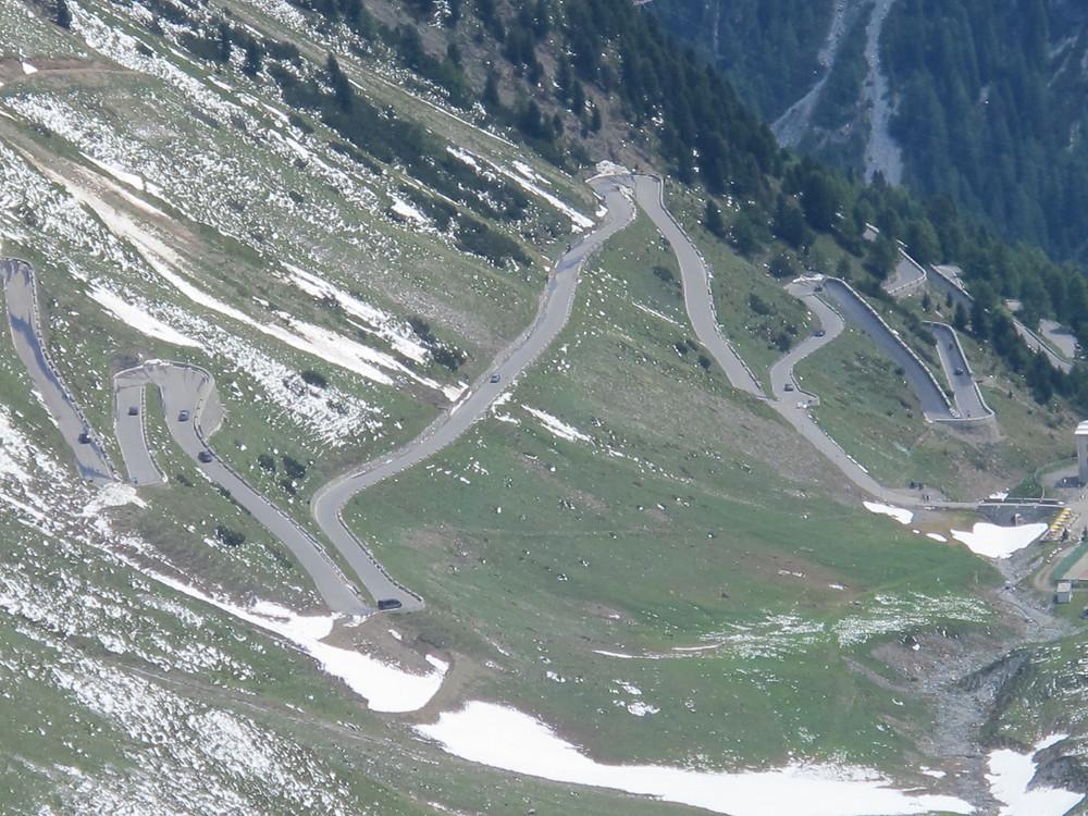 The Italian Stelvio pass