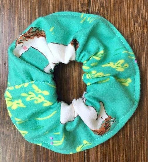 Scrunchie White Horse